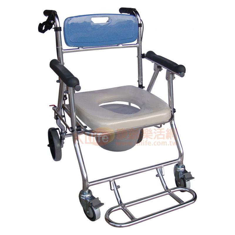 107-WS 鋁製可收附輪便器椅