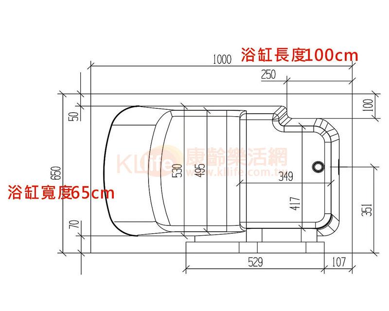 安潔浴缸-外開門系列-2640W
