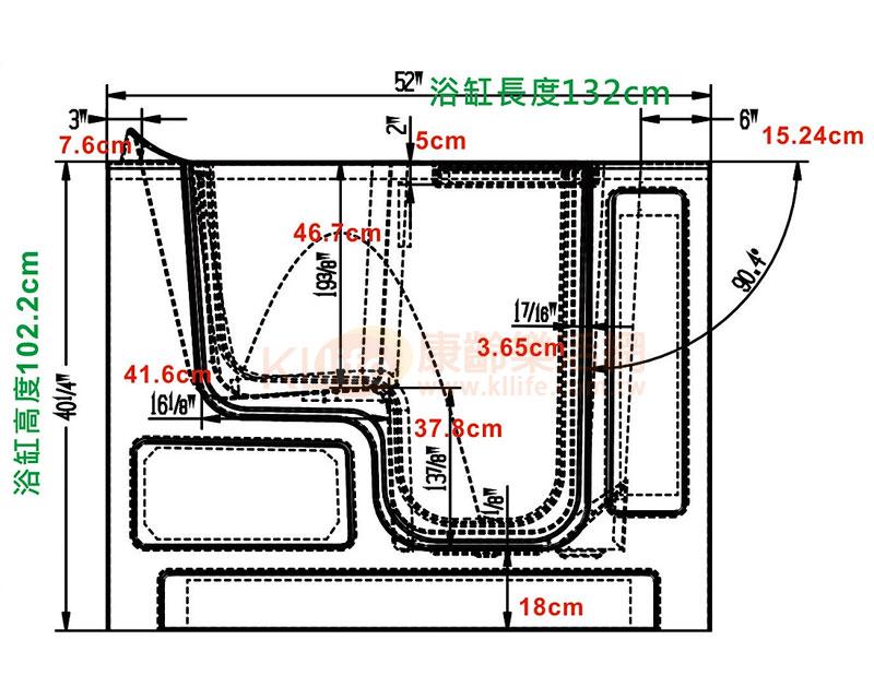 安潔浴缸-外開門系列-2852W