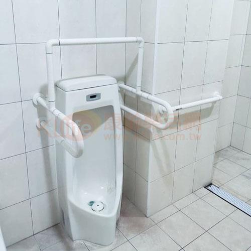 防滑抗菌安全扶手-抗菌小便斗扶手/ABS扶手客戶安裝實例