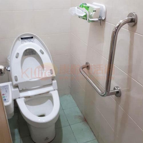 不鏽鋼安全扶手-L型扶手/浴室扶手客戶安裝實例