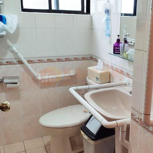 防滑抗菌安全扶手-抗菌V型扶手/ABS扶手客戶安裝實例