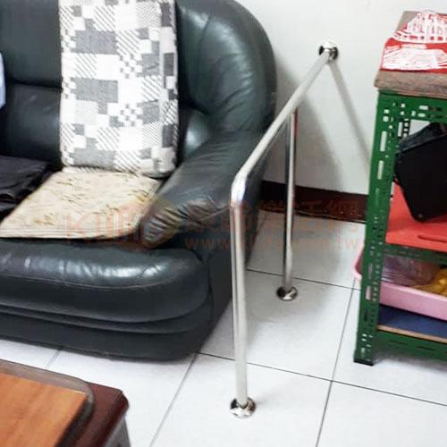 不鏽鋼安全扶手-L型扶手/落地扶手客戶安裝實例
