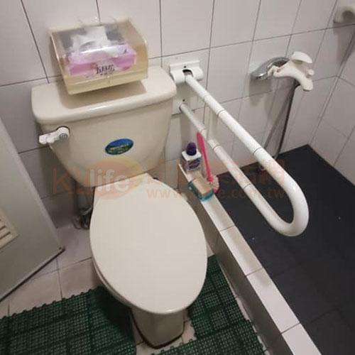 防滑抗菌安全扶手-可掀式活動扶手/抗菌活動型馬桶扶手客戶安裝實例
