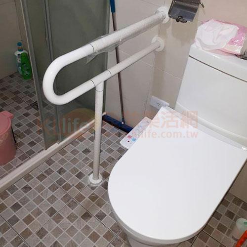 防滑抗菌安全扶手-抗菌P型面盆扶手/ABS扶手客戶安裝實例